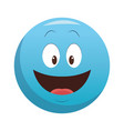 smiling chat emoticon vector image vector image