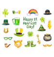 st patrick s day icons stickers or other vector image
