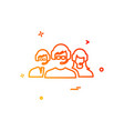 support group icon design vector image