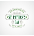 Typography St Patricks Day vector image vector image