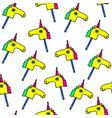 unicorns fantasy seamless pattern horse vector image
