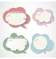 Vintage bubbles for speech vector image vector image
