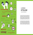 voice recognition magazine page cartoon template vector image