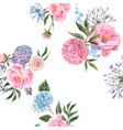 watercolor floral bouquet seamless pattern vector image vector image