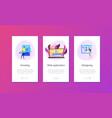 web development app interface template vector image vector image