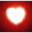 White heart shape on red stylish background vector image vector image