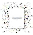 white sheet paper on a background with people vector image vector image