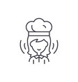 woman cook line icon concept woman cook vector image vector image