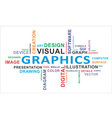 word cloud graphics vector image vector image