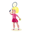 young beautiful girl - tennis player vector image