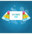Party hat isolated on the blue vector image