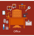 Business flat design vector image