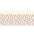 Colorful foot prints horizontal seamless pattern vector image