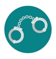 Handcuffs flat icon vector image