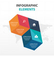 abstract colorful box business infographics vector image vector image