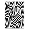 abstract layout with wavy lines twisted hipsters vector image