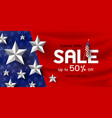 america holiday sale banner background vector image