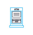 atm transactions thin line stroke icon atm vector image vector image