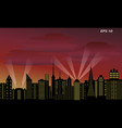 background of a megalopolis at sunse vector image vector image