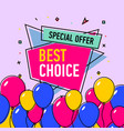 best choice poster vector image vector image