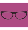 Black secretary glasses on violet background vector image