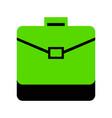 briefcase sign green 3d icon vector image vector image
