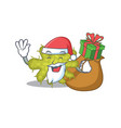 cartoon design bacterium santa with christmas vector image vector image