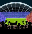 cartoon soccer supporter foot ball vector image vector image
