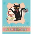 Cat Card vector image vector image