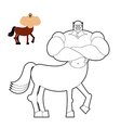 Centaur coloring book Line style of mythical vector image