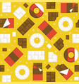 chocolate bar and donuts seamless pattern vector image vector image