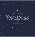 christmas and new year festive concept with fallen vector image vector image