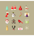 Christmas Flat Icons Set 4 vector image vector image