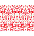 christmas folk art seamless folk pattern vector image