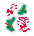 Christmas sweets and tree design elements set vector image