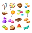color candy icon set vector image vector image