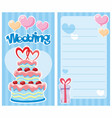 decorative wedding invitation card vector image