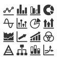 diagram and graphs related icons set vector image vector image