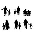 elderly people with grandchildren vector image vector image