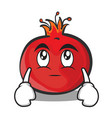 eye roll face pomegranate cartoon character style vector image