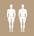 figure man in underwear isolated editable vector image vector image