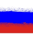 Flag of Russia Grunge Russian Background vector image