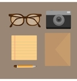 flat set of modern stuff and devices vector image vector image