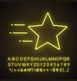 flying star neon light icon vector image