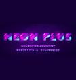 futuristic cyber neon typography glitch font vector image