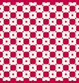geometric checkered seamless red pattern vector image vector image