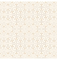 Geometric white pattern with circles vector image vector image