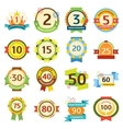 Happy birthday badges set vector image vector image