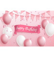 happy birthday greeting or invitation card with vector image