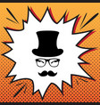 hipster accessories design comics style vector image